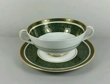 ROYAL DOULTON VANBOROUGH H4992 CREAM SOUP COUPE / CUP AND SAUCER (PERFECT)