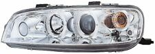 Fiat Punto Mk2 1999-2003 Chrome Halo Angel Eye Projector Front Headlights Lights