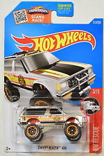 HOT WHEELS 2016 HW RESCUE CHEVY BLAZER 4X4 #3/10 ZAMAC