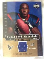 2005 UD Portraits Scrapbook Materials VERNAND MORENCY ROOKIE GU JERSEY PATCH!!!