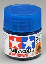 Tamiya X23 Clear Blue Acrylic Paint Jar 81523 TAM81523