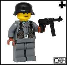 WWII Custom German Soldier made w/ real LEGO® Minifig World War II WW2 Army Man