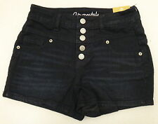 AEROPOSTALE HIGH RISE SHORTY SHORTS COLORED DENIM JEANS BUTTON FLY NEW