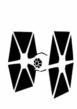High Detail STAR WARS TIE FIGHTER Aerografo Stencil-Gratis UK Spese Postali
