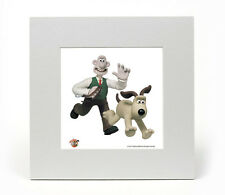 Wallace & Gromit (Walkies) Officially Licensed Limited Edition Art Print 8X8