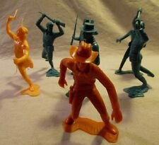 1960's marx playset 6 inch calvery troopers cowboy indian
