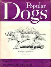 Vintage Popular Dogs Magazine June 1950 Annual Westminster Pictorial Issue