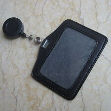 3 X leather ID Card Holder Reels Retractable Badge SLB