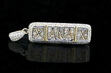 10K Yellow Gold .70CT Real Diamond Xanax Pendant Pill Bars Xanny Molly Iced Out