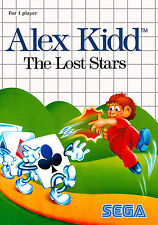 Alex Kidd The Lost Stars SEGA Master System Framed Print (Man Cave Picture Game)