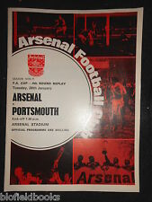 Vintage ARSENAL V PORTSMOUTH Football Club Programme - 26th January 1971