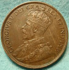 1912 XF-AU High Grade CANADA LARGE CENT Georgivs V COIN NoRes CANADIAN