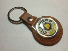 BULTACO CEMOTO MOTORCYCLES Leather Key Rings, available in black or tan