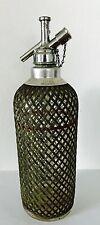 Vintage Sparklets Siphon Glass Syphon Seltzer Bottle Metal Mesh Made in England