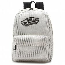 Vans Realm Dot Hearts Classic White Backpack Book Travel Gym Bag New