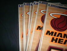 Wholesale lot of 20 Sheets of 4 MIAMI HEAT OFFICIAL DECAL/STICKERS 12X17
