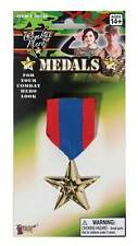 Fake Military Medals (1 single), Fancy Dress Accessory #US