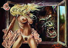 KONGA / EROTIC HORROR / LARGE ARCHIVAL GICLEE FINE ART PRINT / RICK MELTON