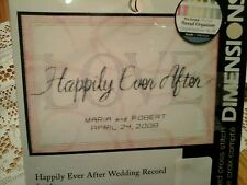 """Happily Ever After Wedding Record Mini Counted Cross Stitch 7""""X5""""  Ivory Cotton"""