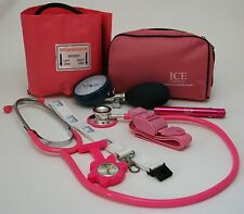 Nurse Starter Set Pink Blood Pressure Sphygmomanometer Stethoscope Pen torch