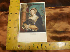 "Original Max Jaffe Collotype Postcard   ""Hans Holbein Lady Guildford"""