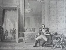 Chateau FONTAINEBLEAU salon d' abdication  GRAVURE d'aprés T.ALLOM XIXéme