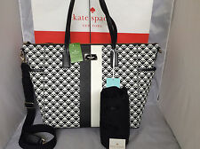 NWT Authentic Kate Spade Black Penn Place Adaira BABY Bag Diaper Tote Mom Travel