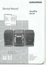 Grundig Service Anleitung Manual CDM 700   B366