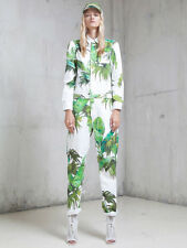 OFF WHITE C/O VIRGIL ABLOH tropical Nebraska palm logo denim jumpsuit overalls S
