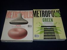 2000S METROPOLIS MAGAZINE LOT OF 12 ISSUES - DESIGN - ARCHITECTURE - O 641
