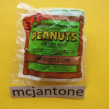 MIP McDonald's 1990 Peanuts LUCY APPLE CART Sgl Toy Snoopy Cartoon POOR PACKAGE