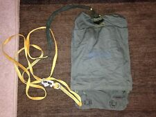 MILITARY PARACHUTE DEPLOYMENT BAG W/MODIFIED PERSONNEL STATIC LINE MC1 T10