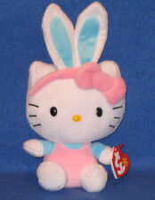 TY HELLO KITTY EASTER BUNNY BEANIE BABY with TURQUOISE EARS - MINT with MINT TAG