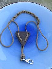 Fishing/ Fly Fishing Tool Holder bolo tie style made of paracord and leather-2