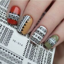 1 sheet Tribal Geo Pattern Nail Art Water Decals Nail Stickers Accessories Water