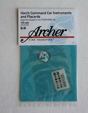 Archer 1/35 Horch Command Car Instruments and Placards (Italeri/Revell) AR35299