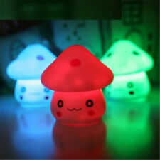 MUSHROOM KIDS BABY TODDLER LED NIGHT LIGHT COLOUR CHANGING GIFT DARK PARTY