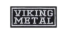 Viking Metal Heavy Biker Rocker Patch Aufnäher Bügelbild Musik Kutte Badge T4