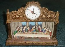 Vintage Last Supper Jesus Diorama Clock With Light Great Collectible Gift