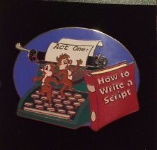 """Chip n Dale Typewriter """"How to Write a Script"""" DA Disney Auctions (P.I.N.S.) Pin"""