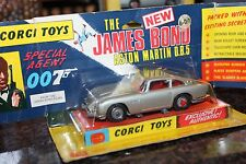 Corgi Toys 1968 VERY FIRST ISSUE SILVER ASTON MARTIN BLISTER UNTOUCHED ORIGINAL