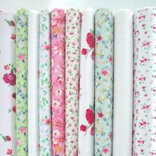 10 X 1 METRE BUNDLE  - IVORY AND CREAM VINTAGE - FLORAL POLY COTTON FABRIC