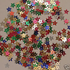 Sequins Tiny Mixed Color Stars Red Silver Blue Yellow, etc. 800 pieces Loose