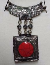Tribal Handmade Afghanistan Jewelry  Necklace Coral Pendents