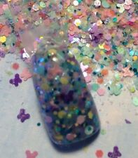 glitter mix acrylic gel nail art PASTEL PARADISE Limited Edition