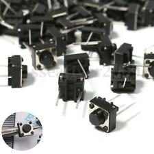 100x Momentary Tactile Tact Push Button Switch 2 Pin DIP 6x6x5mm Through Hole