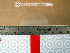 "1.5 Inch Clear Round Sticker Retail Box Wafer Seals Circle Tab 1-1/2"" Roll 500"