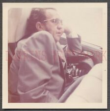Unusual Vintage Color Photo Man Sleeping w/ Snapshot Camera 670793