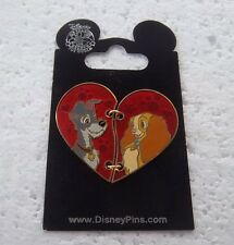 *~*DISNEY LADY AND THE TRAMP TWO PIECE HEART PIN*~*
