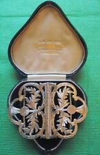 Art Nouveau Birmingham 1927 Plata Maciza Thistle Enfermera hebilla: Regalo de San Valentín